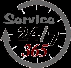service 24-7-365